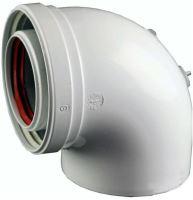 ALMEVA - LIK koleno 87° s měřícím otvorem průměr 60/100 mm - Airfel