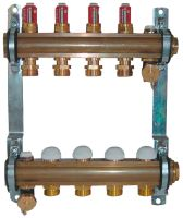 Herz 1853203 rozdělovač a sběrač podlahového vytápění,   3 okruhový, DN25, s průtokoměrem