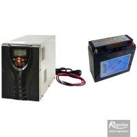 Záložní zdroj REGULUS PG 600 S + akumulátor 100 AH - max. výstupní výkon 600W