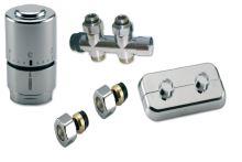 NEREZ Ventilový set pro středové koupelnové radiátory, přímý,IVAR KIT DV 10315 pro CU 15