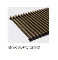 Krycí mřížka KORAFLEX PM hliníková / bronzová světlá 20x80 cm