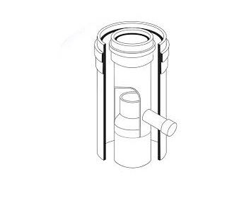 ALMEVA - AL2 odvádeč kondenzátu průměr 80/125 mm