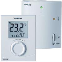 Prostorový termostat SIEMENS RDH 10/RF set - denní - bezdrátový