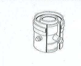 ALMEVA - AL2 měřící kus průměr 60/100 mm, délka 0,11 m