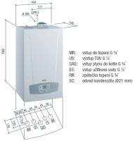 Závěsný kondenzační kotel BAXI LUNA DUO-TEC+ 24, 3,4 - 24 kW