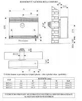 rozměrový náčrtek beta mechanic comfort