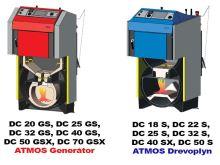 Zplyňovací kotel na dřevo ocelový ATMOS DC 25 S, výkon 25/27 Kw