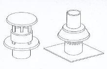 ALMEVA - AL1 komínová hlavice průměr 80 mm (střešní, černá)