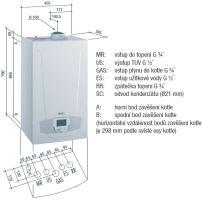 Závěsný kondenzační kotel BAXI LUNA PLATINUM+ 1.24, 2,4 - 24 kW