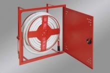 Hydrantová skříň vestavěná DN 25 návin 20 m - červená Ral 3002 - komplet