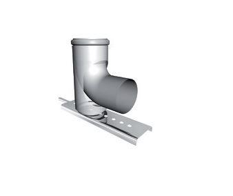 ALMEVA - STARR Pateční koleno starr 87°s kotvením, průměr 80 mm