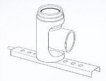 ALMEVA - AL1 pateční koleno 90°s kotvením průměr 80 mm (nelakováno)