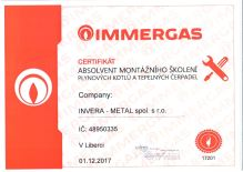 Závěsný kondenz. kotel IMMERGAS VICTRIX Zeus Superior 26 2 ErP, 25,8 kW, zásobník 54 l