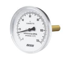 Teploměr průmyslový průměr 80 mm s jímkou (zadní připojení)