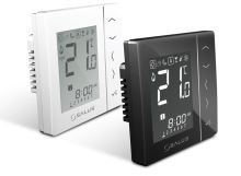 Týdenní programovatelný termostat SALUS VS10WRF černý, bezdrátový, napájení 230V
