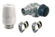 Ventilový set pro koupelnové radiátory, úhlový, IVAR KIT VCS - CU 15 - levý