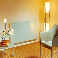 Skleněný elektrický radiátor SOLARIS 630/750, bílý, matný, s termostatem, výkon 750 Wattů