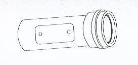 ALMEVA - AL1 trubka s hrdlem revizní průměr 100 mm, délka 0,25 m