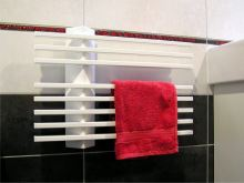 Elektrický sušák ručníků LINER.E MS 550 x 395 x 80, stříbrný, výkon 80 W