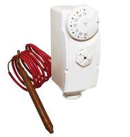 Příložný termostat SALUS TC AT10F  pro ovládání čerpadla ústředního topení nebo teplé užitkové vody s kapilárou
