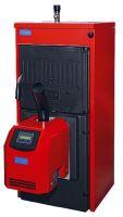Sestava - Automatický litinový kotel ATTACK FD42 PELLET 8-čl., 8 - 43,9 kW +zásobník 350l