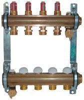 Herz 1853204 rozdělovač a sběrač podlahového vytápění,   4 okruhový, DN25, s průtokoměrem