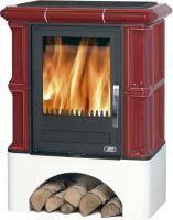 Kachlová kamna ABX BAVARIA K 12kW, ahornweiss, rovný sokl, dřevo/dřevěné brikety+TV 6,9 kW