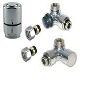 CHROMOVÝ Ventilový set pro koupelnové radiátory, úhlový, IVAR DV 016028 - pro CU15