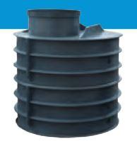 Šachta vodoměrná k obsypu HECKL, ovál, průměr 1000x1200 mm, výška vč. komínu 1250 mm