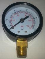 Manometr průmyslový průměr 55 mm - 10 BAR (spodní připojení)