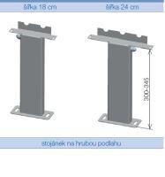 Stojánková konzole KORALINE nerez 180 mm - 2 ks v balení, hrubá podlaha