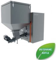 Automatický kotel na tuhá paliva OPOP H824-A, výkon 7 - 24 Kw, zásobník 295 litrů