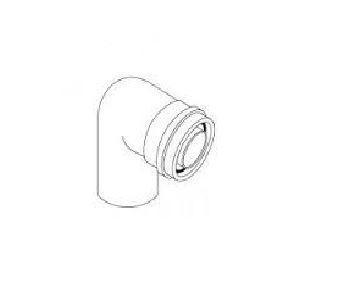 ALMEVA - AL2 koleno 90° průměr 60/100 mm
