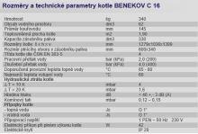 Automatický kotel na tuhá paliva BENEKOV C 16 Ecomonix, výkon 19 Kw, zásobník 330l - pravý