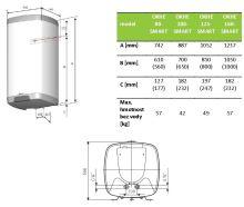 DZ Dražice OKHE 100 Bojler, ohřívač vody, elektrický, svislý - hranaté provedení
