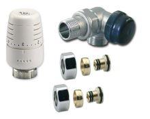Ventilový set pro koupelnové radiátory, úhlový, IVAR KIT VCD/1 - PEX 16 - pravý