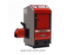 Zplyňovací kotel na pelety ocelový ATMOS D 14 P, výkon 4-14 Kw, cena bez hořáku