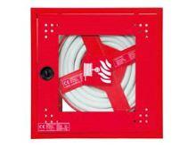 Hydrantová skříň vestaněná prosklená DN 25 návin 20 m - červená Ral 3002 - komplet