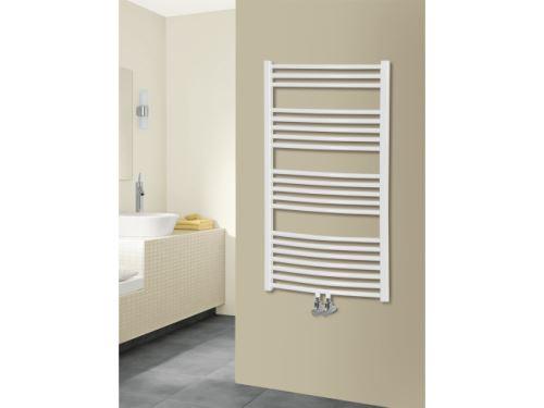 Koupelnový radiátor KD 730/750 střed.připojení, bílý, rovný max. výkon 759 W