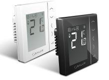 Denní programovatelný termostat SALUS VS30B černý, kabelový, napájení 230V