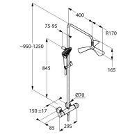 Sprchový systém Thermostat Dual Shower System KLUDI FIZZ, DN15