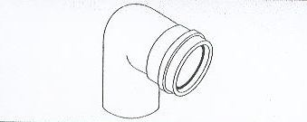 ALMEVA - AL1 koleno 90° průměr 80 mm