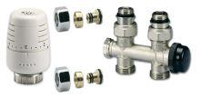 Ventilový set pro středové koupelnové radiátory, přímý, IVAR KIT M PR 01/1  pro Pex 16